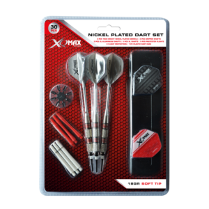 XQ Max Dartset nickel plated 18 grams softtip